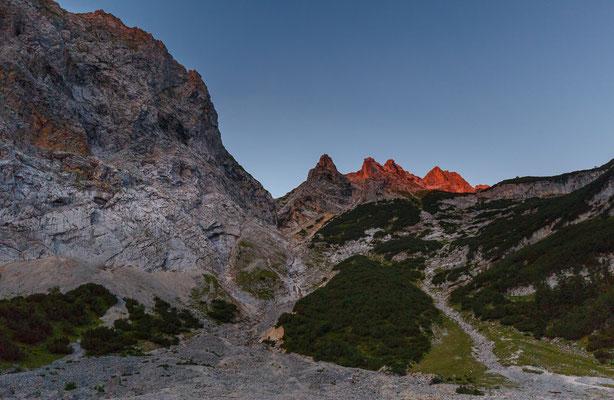 Aufstieg zur Zugspitze, August 2017