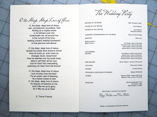 second hymn and wedding party