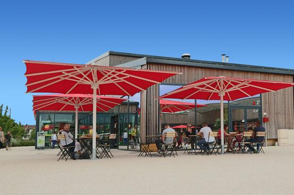 may Sonnenschirme ✅ SCHATTELLO | ALBATROS ✅ beim Fachhändler für Großschirme in HESSEN / Seeheim - Jugenheim | FINK Sonnenschirme | 🌐 www.fink-sonnenschirme.de | ✉ info@fink-sonnenschirme.de | ☎ 06026 9996960