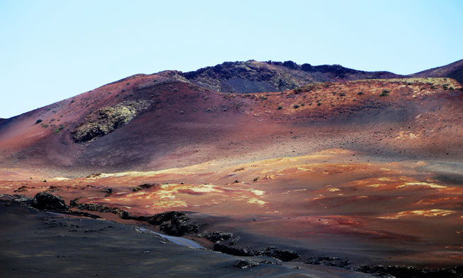 Auf dem Mars skurile Landschaft