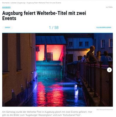 UNESCO Welterbe Augsburg Illumination Wolfgang F. Lightmaster - Wasser - Kraft - Licht - Augsburger Allgemeine Zeitung