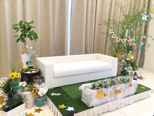 ウェディング 装花 花 花ひろ 福井 鯖江 結婚式 ブライダル オリジナルウェディング 七夕
