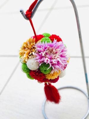 プリザーブドフラワー×アーティフィシャルフラワー 和装用ボールブーケ
