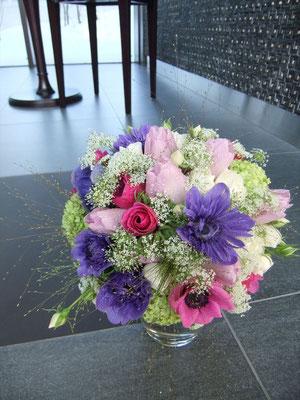 アネモネで作るnatural bouquet