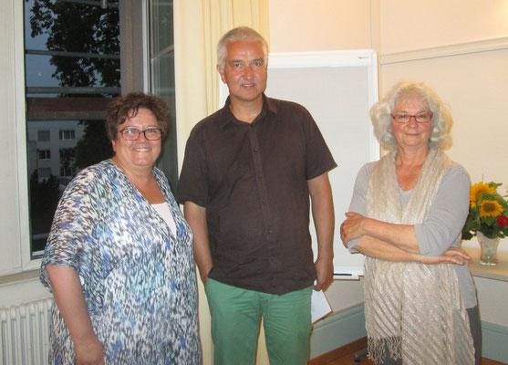 Doris Agazzi SVAMV Schweiz und Georg Mattmüller eifam Region Basel, Anna Hausherr