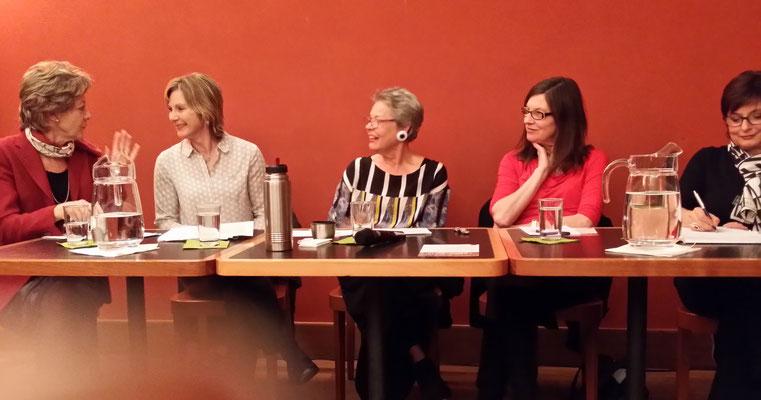 S. Leutenegger, Maya Graf, Ursa Krattiger, Silvia Schenker und Anita Fetz