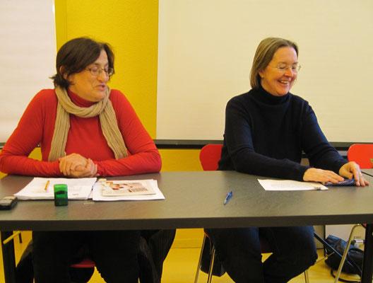 C.Staehli und A.Seydoux im Gespräch