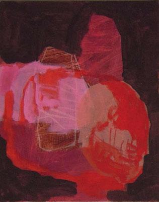 """aus der Serie """"Behausungen"""" 4, 2015, Acryl auf Leinwand/Karton, 30 x 24 cm"""