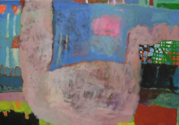 """Gefüge 38"", 2019, Acryl auf Leinwand, 70 x 100 cm"