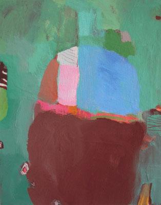 """aus der Serie """"Behausungen"""" 7, 2016, Acryl auf Leinwand/Karton, 30 x 24 cm"""