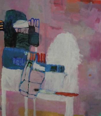 """Gefüge 13"", 2017, Acryl auf Leinwand, 80 x 70 cm"