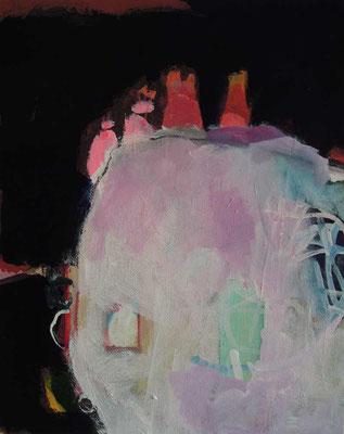 """aus der Serie """"Behausungen"""" 5, 2015, Acryl auf Leinwand/Karton, 30 x 24 cm"""