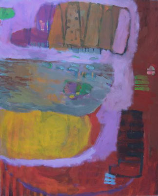 Gefüge 65, 2020, Acryl auf Leinwand, 80 x 65 cm