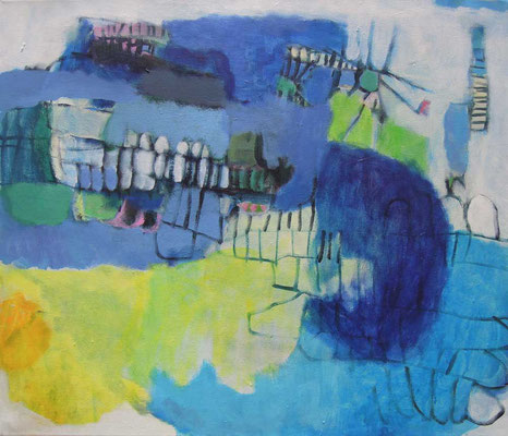 """Gefüge 18"", 2018, Acryl auf Leinwand, 60 x 70 cm"