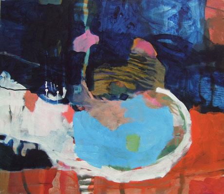 """Gefüge 5"", 2016, Acryl auf Leinwand, 70 x 70 cm"