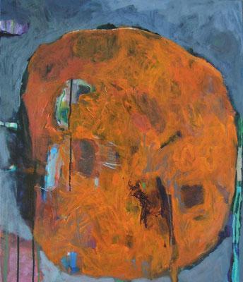 """""""Organismus II"""", Acryl/Mischtechnik auf Leinwand, 70 x 60 cm"""