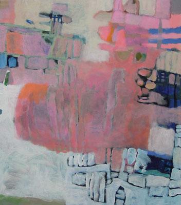 """Gefüge 14"", 2017, Acryl auf Leinwand, 80 x 70 cm"