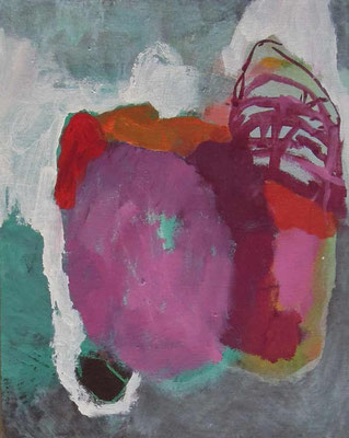"""aus der Serie """"Behausungen"""" 2, 2015, Acryl auf Leinwand/Karton, 30 x 24 cm"""