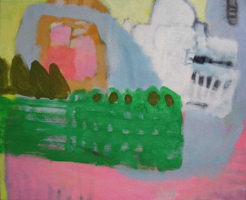 """Gefüge 33"", 2018, Acryl auf Leinwand, 45 x 55 cm"