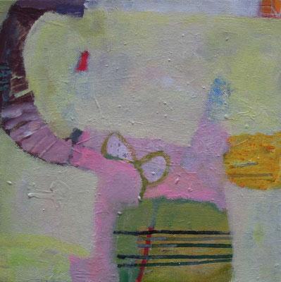 """""""Gefüge 16/Nach oben"""", 2017, Acryl auf Leinwand, 30 x 30 cm"""