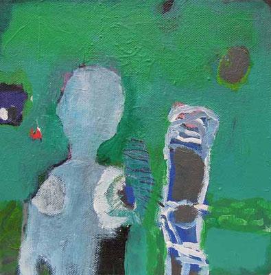 """""""Im Grünen"""", Acryl auf Leinwand, 20 x 20 cm"""