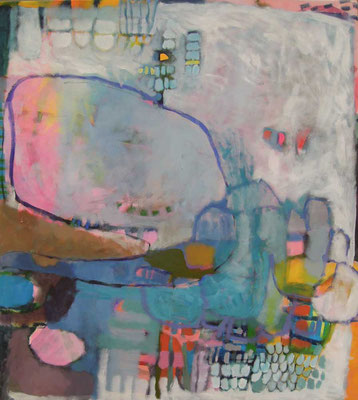 """Gefüge 39"", 2019, Acryl auf Leinwand, 100 x 90 cm"