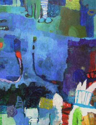 """Gefüge 11"", 2017, Acryl auf Leinwand, 130 x 100 cm"