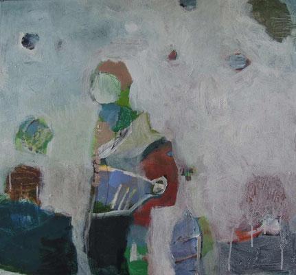 """Wanderer"", Acryl auf Leinwand, 55 x 60 cm"