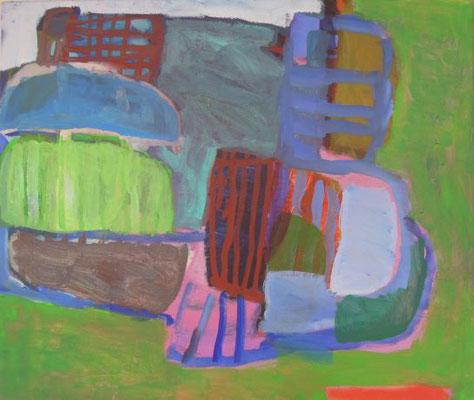 Gefüge 62, 2020, Acryl auf Leinwand, 42 x 50 cm