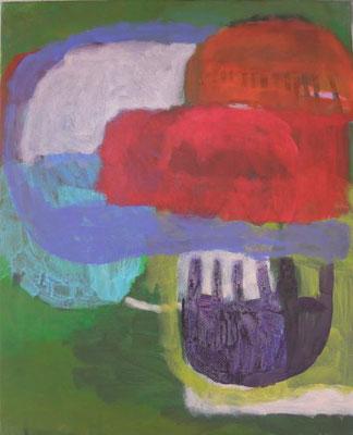 Gefüge 61, 2020, Acryl auf Leinwand, 55 x 45 cm