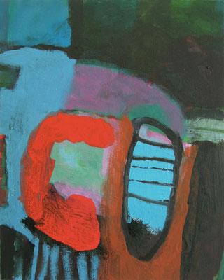 """aus der Serie """"Behausungen"""" 6, 2016, Acryl auf Leinwand/Karton, 30 x 24 cm"""