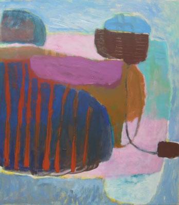 Gefüge 58, 2020, Acryl auf Leinwand, 80 x 70 cm