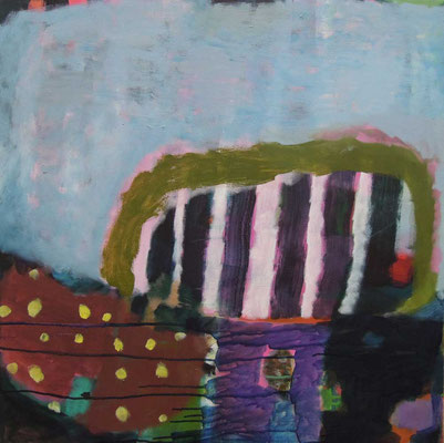 """Gefüge 34"", 2018, Acryl auf Leinwand, 80 x 80 cm"