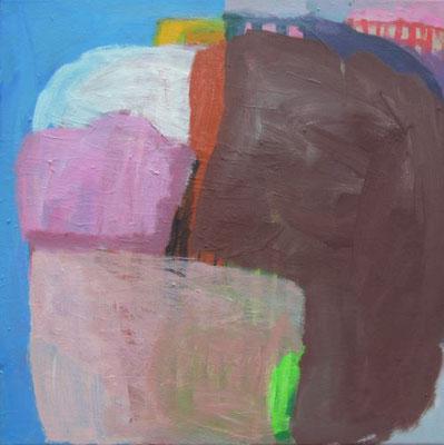 Gefüge 70, 2020, Acryl auf Leinwand, 40 x 40 cm