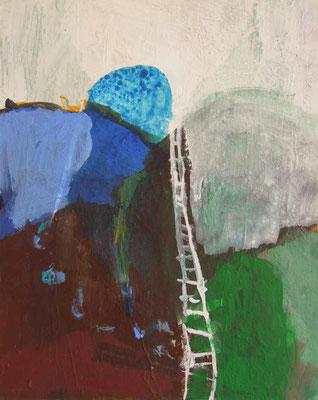 """aus der Serie """"Behausungen"""" 3, 2015, Acryl auf Leinwand/Karton, 30 x 24 cm"""