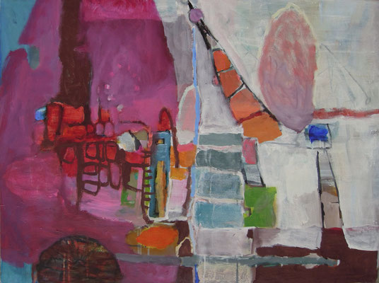 """Im Inneren"", 2016, Acryl auf Leinwand, 60 x 80 cm"