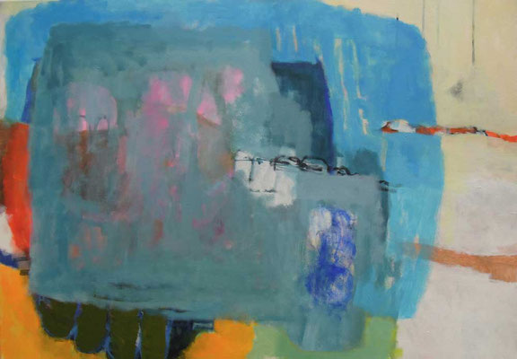 """Gefüge 31"", 2018, Acryl auf Leinwand, 70 x 100 cm"