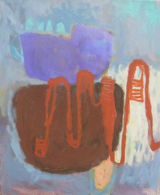 Gefüge 50, 2020, Acryl auf Leinwand, 55 x 45 cm