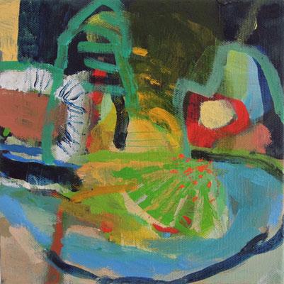 """Landschaft"", 2016, Acryl auf Leinwand, 20 x 20 cm"