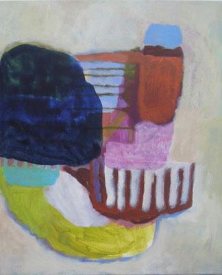Gefüge 51, 2020, Acryl auf Leinwand, 55 x 45 cm