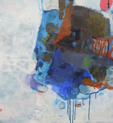 """Gefüge 7"", 2016, Acryl auf Leinwand, 65 x 60 cm"