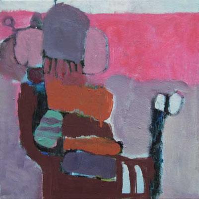 """Gefüge 20"", 2018, Acryl auf Leinwand, 30 x 30 cm"