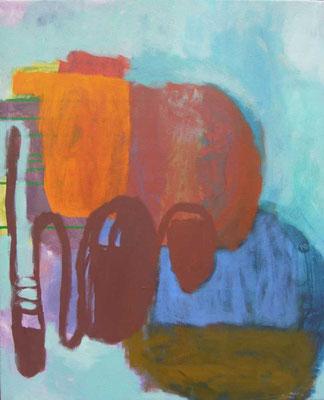 """Gefüge 47"", 2019, Acryl auf Leinwand, 55 x 45 cm"