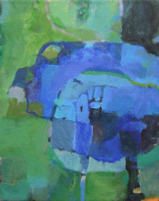 """Gefüge 6"", 2016, Acryl auf Leinwand, 50 x 40 cm"