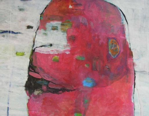 """""""Organismus I"""", Acryl/Mischtechnik auf Leinwand, 100 x 130 cm"""