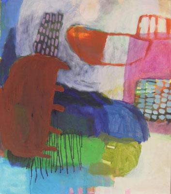 Gefüge 57, 2020, Acryl auf Leinwand, 70 x 80 cm