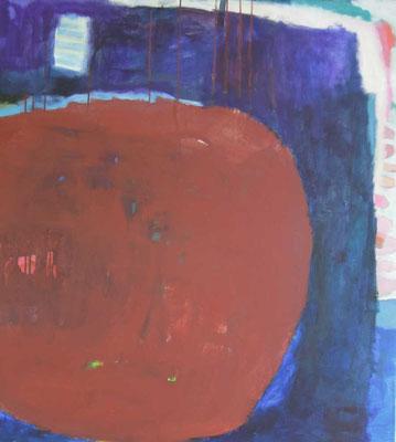 """Gefüge 40"", 2019, Acryl auf Leinwand, 100 x 90 cm"