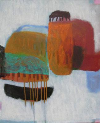 Gefüge 59, 2020, Acryl auf Leinwand, 55 x 45 cm