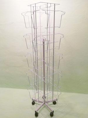 ART.52 ESPOSITORE PER CATALOGHI CON 20 TASCHE, DIMENSIONI ESTERNE CM. 180X52X52