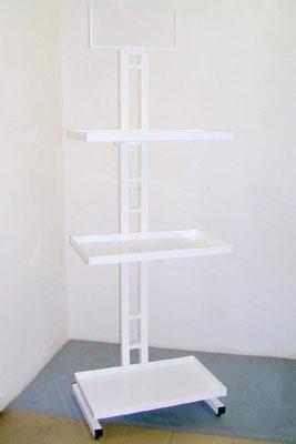 ART.42 ESPOSITORE CON 3 PIANI IN LAMIERA, DIMENSIONI CM. 170X60X40